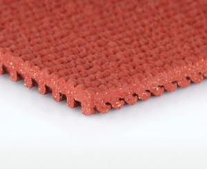 Prefabricated rubber track