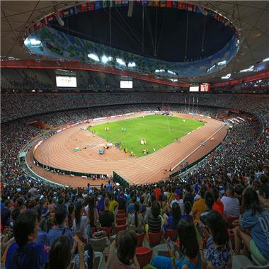 2015年北京世界田径锦标赛的国家体育场鸟巢