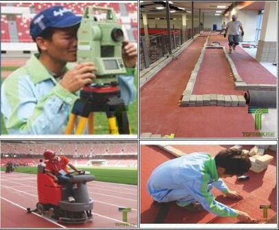 预制型橡胶跑道施工流程